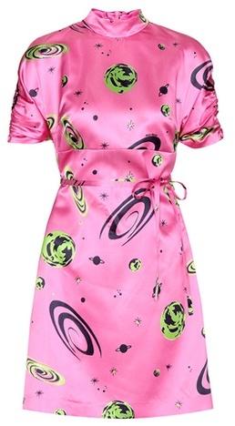 Miu MiuMiu Miu Printed Silk-satin Dress