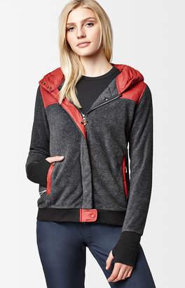 Holden Black Snow Sherpa Hybrid Zip Up Jacket