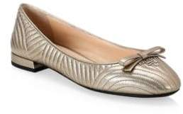 Prada Textured Ballerina Flats