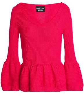 Moschino Ribbed-Knit Wool Sweater