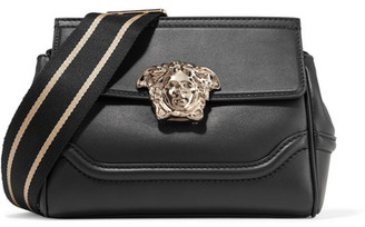 Versace - Palazzo Empire Medium Leather Shoulder Bag - Black $1,950 thestylecure.com