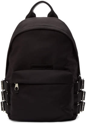 McQ Black Classic Buckle Backpack