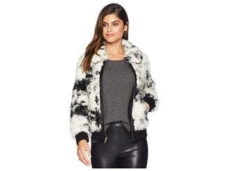 7 For All Mankind Faux Fur Curly Lamb Bomber Women's Coat