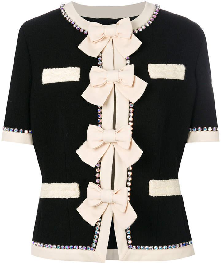 Gucci bow-embellished jacket