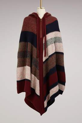 Chloé Hooded Wool Poncho