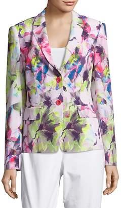 Basler Women's Floral-Print Long-Sleeve Blazer