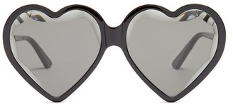 Gucci Heart Shaped Frame Sunglasses - Womens - Black Multi