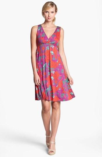 Nordstrom FELICITY & COCO Print Empire Waist Dress Exclusive)
