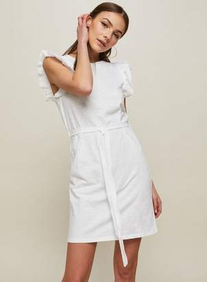 Miss Selfridge Frill sleeve tie waist shift dress