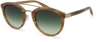Barton Perreira Dalziel Universal-Fit Round Gradient Sunglasses