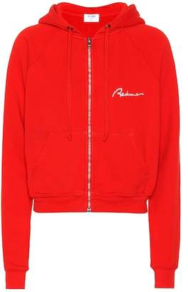 RE/DONE Embroidered cotton hoodie
