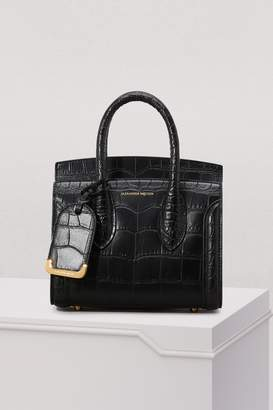Alexander McQueen Heroine Croc-Effect Leather Tote Bag
