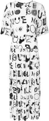 Moschino long pleated dress
