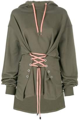 Versus long sleeved corset hoodie
