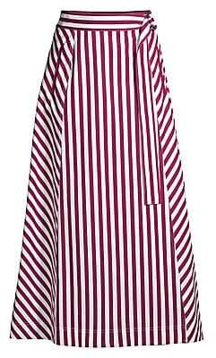 Lafayette 148 New York Women's Nimah Strada Striped Ankle Skirt