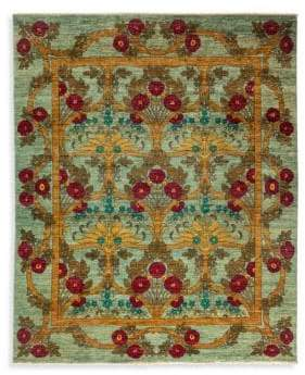 Solo Rugs Arts & Crafts Floral Wool Rug