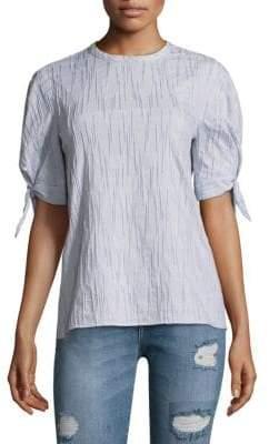 Derek Lam 10 Crosby Stripe Textured Blouse