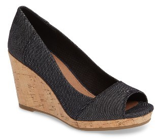 Women's Toms Stella Wedge Pump $78.95 thestylecure.com