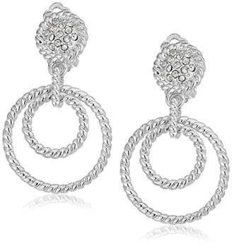 """T Tahari Essentials"""" Cry Rope Text Clip-On Earrings"""