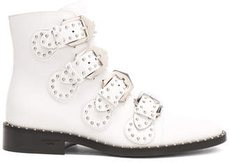 Givenchy Leather Elegant Studded Ankle Boots