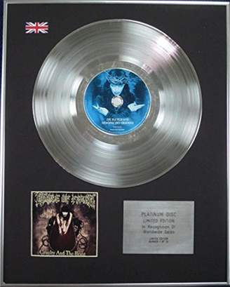Christian Dior CenturyMusic CRADLE OF FILTH - Limited Edition Platinum Disc - CRUELTY AND THE BEAST