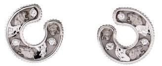 Magerit Joyas 18K Diamond Winged Lion Earrings white Magerit Joyas 18K Diamond Winged Lion Earrings