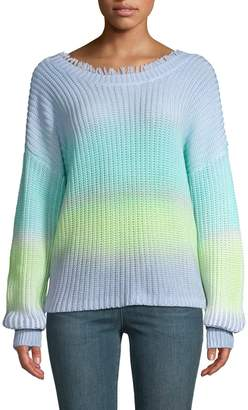 525 America Ombre Fringed Knit Sweater