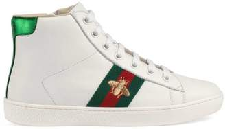 Gucci Children's Ace leather high-top sneaker