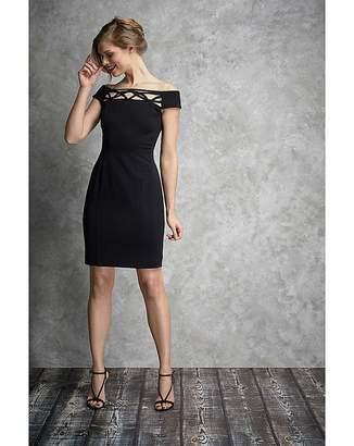Gina Bacconi Ranita Crepe Dress