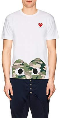 Comme des Garcons Men's Cotton Camouflage Heart T-Shirt - White
