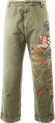 Gucci appliqué loose chinos