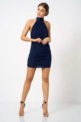 Club L **Halter Neck Mini Dress