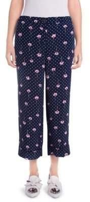 Miu Miu Cropped Pajama Pants