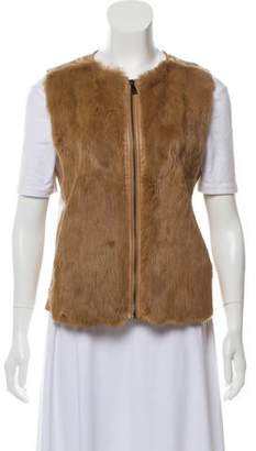 Vince Fur-Accented Leather est