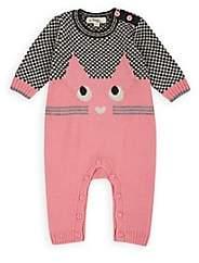 The Bonnie Mob Infants' Markie Cat-Intarsia-Knit Playsuit - Pink