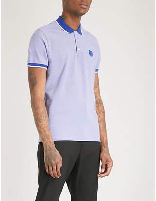 Kenzo Tiger-badge cotton-piqué polo shirt