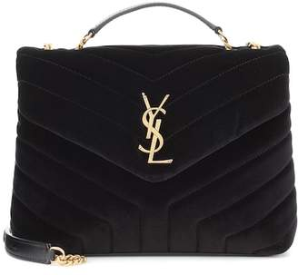 Saint Laurent Loulou Monogram velvet shoulder bag