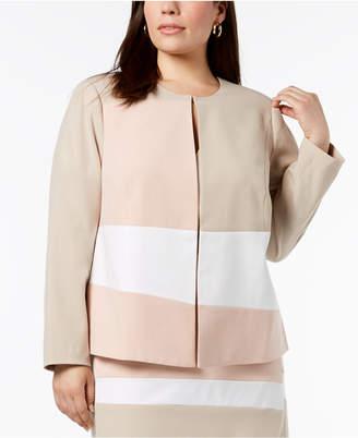 Calvin Klein Plus Size Colorblocked Jacket