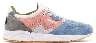 Karhu Aria Suede And Mesh Trainers - Mens - Pink Multi