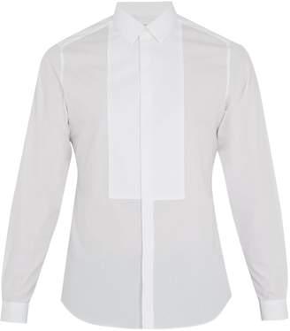 Valentino Single-cuff spread-collar cotton shirt