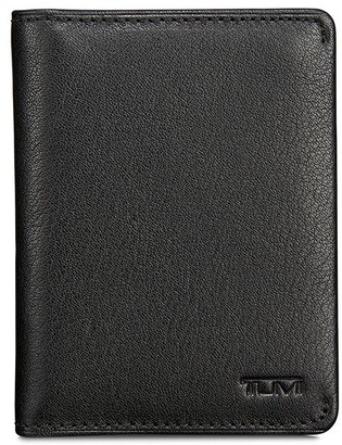 Tumi embossed logo bi-fold wallet