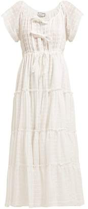 Innika Choo Tiered Cotton Poplin Dress - Womens - White