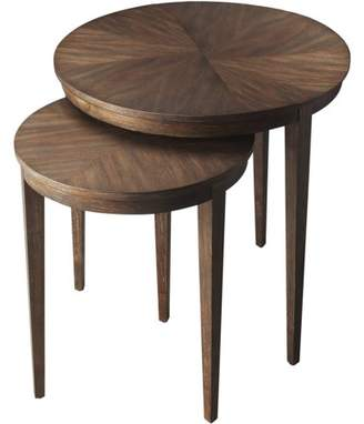 Butler Specialty Company Butler Loft Contemporary Round Cocoa-Finish Acacia Wood Nesting Tables