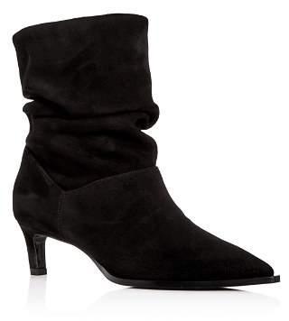 Aquatalia Women's Maddy Weatherproof Mid-Heel Slouch Boots