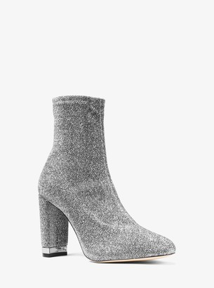 MICHAEL Michael Kors Mandy Glitter Stretch-Knit Ankle Boot