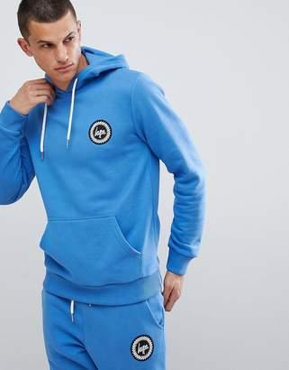 Hype logo hoodie in blue