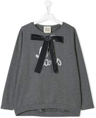 Douuod Kids TEEN bow detail top