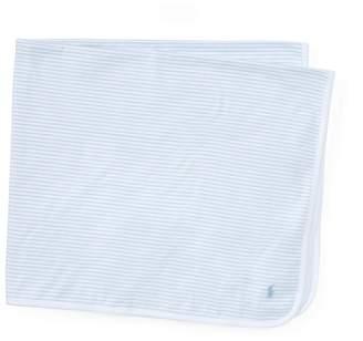 Ralph Lauren Striped Cotton Jersey Blanket