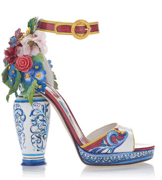 Dolce & Gabbana Embellished Patent-Leather Sandals $3,595 thestylecure.com