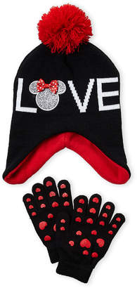 Disney Girls 4-6x) Two-Piece Minnie Mouse Hat   Glove Set d3b7c0c029b